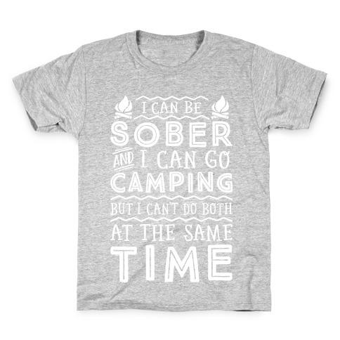 Sober Camping Kids T-Shirt