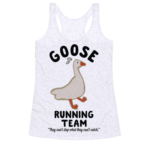 Goose Running Team Racerback Tank Top