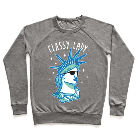 Classy Lady Liberty (White) Pullover