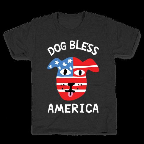 Dog Bless America Kids T-Shirt