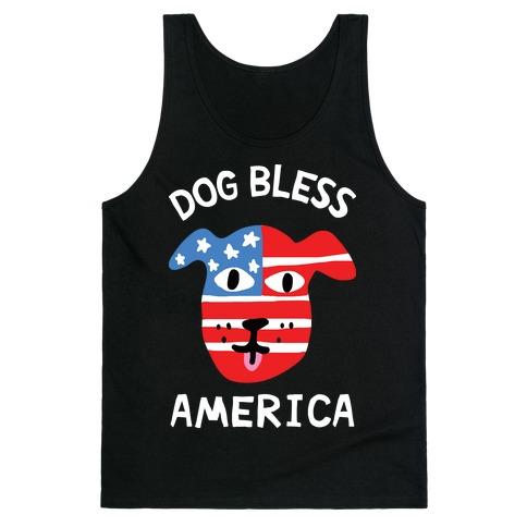 Dog Bless America Tank Top