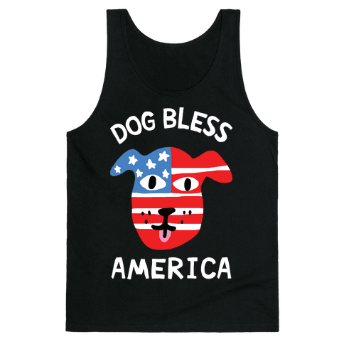 Dog Bless America Tank Top
