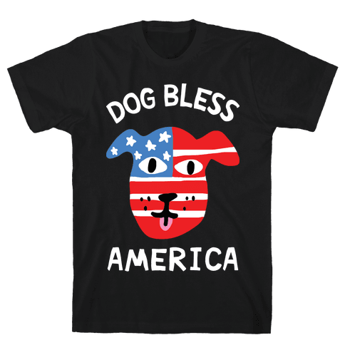 Dog Bless America Mens/Unisex T-Shirt