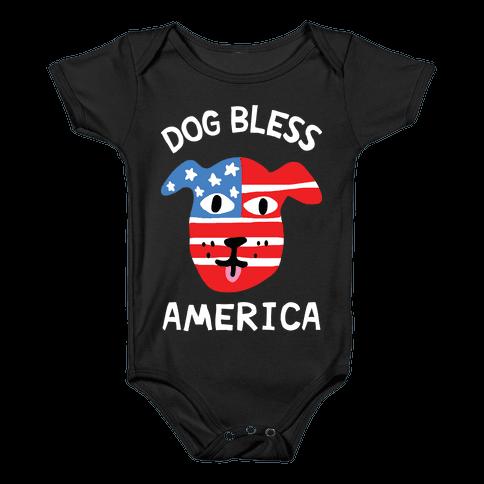 Dog Bless America Baby Onesy
