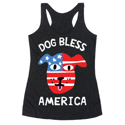 Dog Bless America Racerback Tank Top