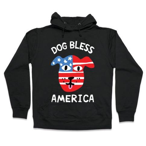 Dog Bless America Hooded Sweatshirt