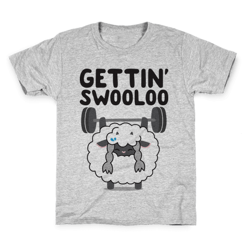 Gettin' Swooloo (Swole Wooloo) Kids T-Shirt