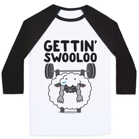 Gettin' Swooloo (Swole Wooloo) Baseball Tee