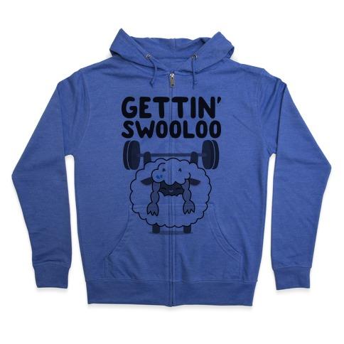 Gettin' Swooloo (Swole Wooloo) Zip Hoodie