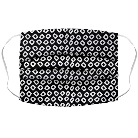 Abstract Diamond Black and White Boho Pattern Accordion Face Mask