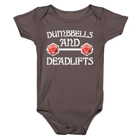 Dumbbells and Deadlifts (DnD Parody) Baby One-Piece