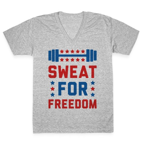 Sweat For Freedom V-Neck Tee Shirt