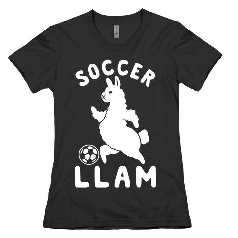 Soccer Llam Womens T-Shirt