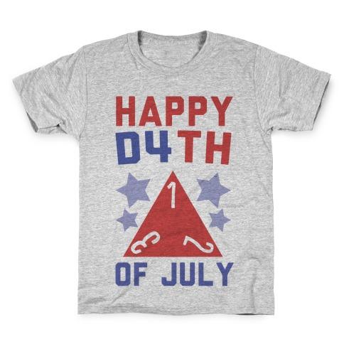 Happy D4th of July Kids T-Shirt
