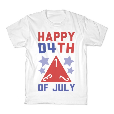 Happy D4th of July Kids T-Shirt
