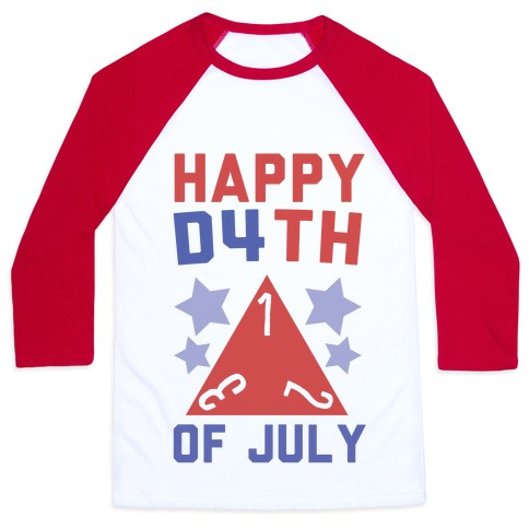 Happy D4th of July Baseball Tee