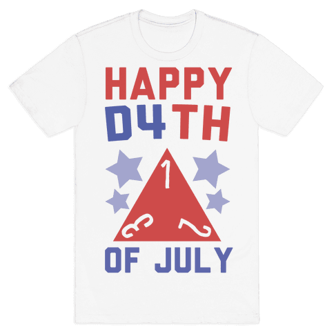 Happy D4th of July Mens/Unisex T-Shirt