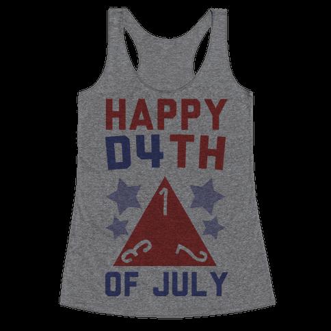 Happy D4th of July Racerback Tank Top