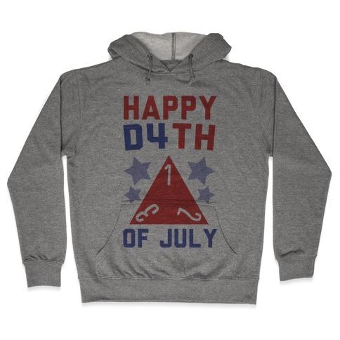 Happy D4th of July Hooded Sweatshirt