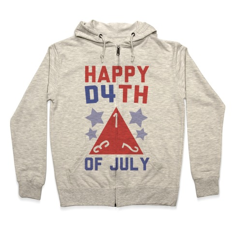 Happy D4th of July Zip Hoodie