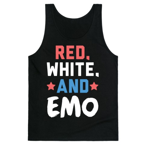 Red, White, And Emo Tank Top
