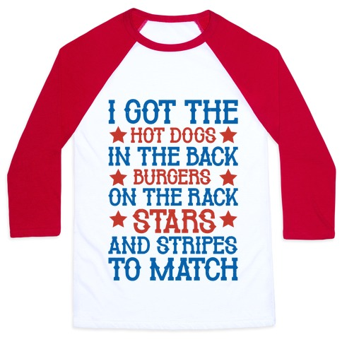Old Town Road Fourth of July Parody Baseball Tee