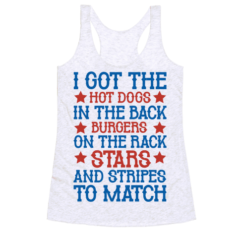Old Town Road Fourth of July Parody Racerback Tank Top