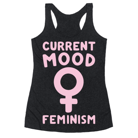 Current Mood Feminism White Print
