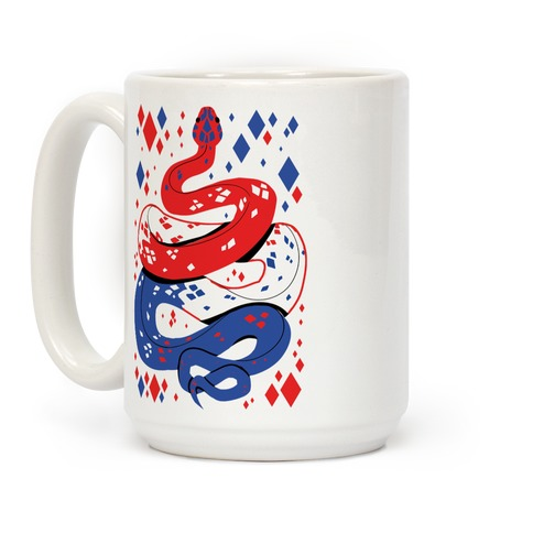 USA Red White And Blue Snake Coffee Mug