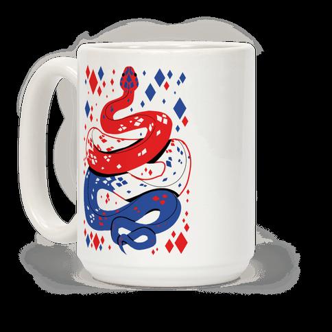 USA Red White And Blue Snake Coffee Mug