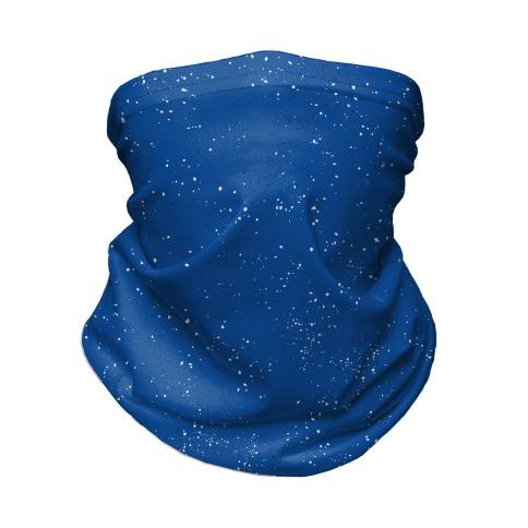 Blue Speckled Camp Pattern  Neck Gaiter
