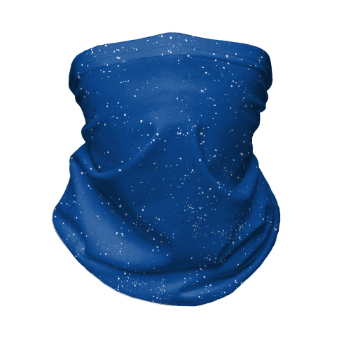 Blue Speckled Camp Pattern  Neck Gaiter