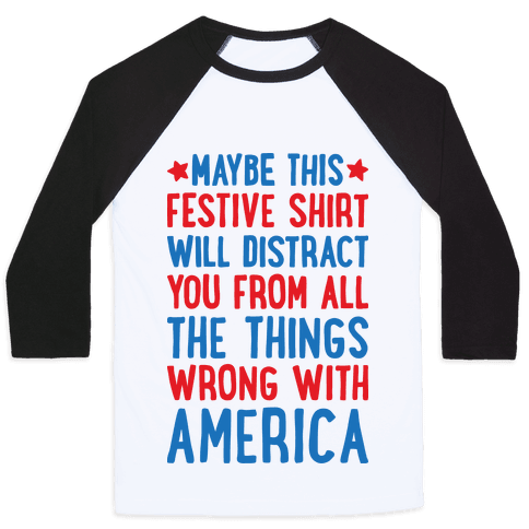 Festive American Distraction Baseball Tee