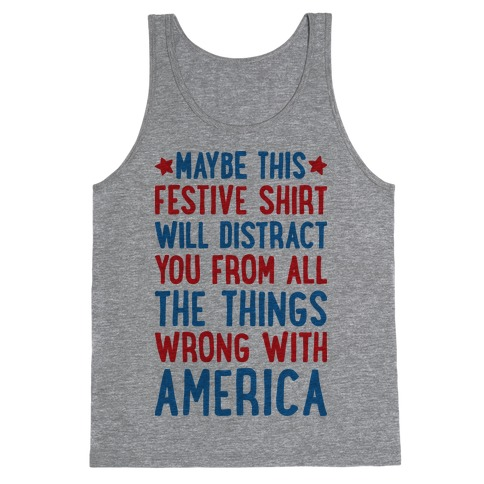 Festive American Distraction Tank Top