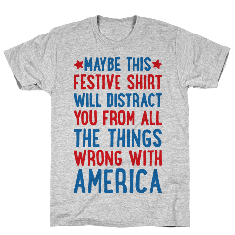 Festive American Distraction Mens/Unisex T-Shirt