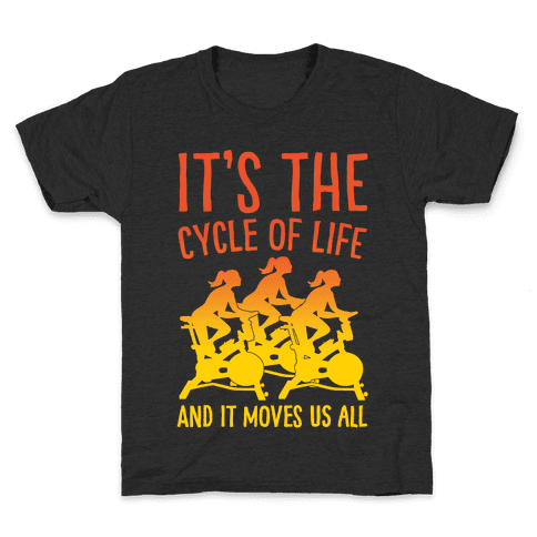 It's The Cycle of Life Spinning Parody White Print Kids T-Shirt