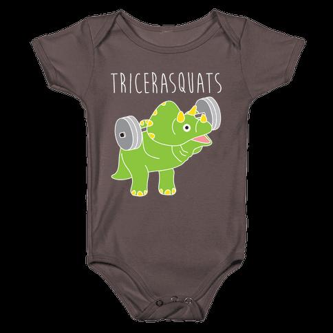 TriceraSQUATS Baby One-Piece