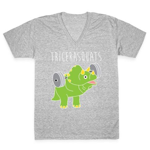 TriceraSQUATS V-Neck Tee Shirt