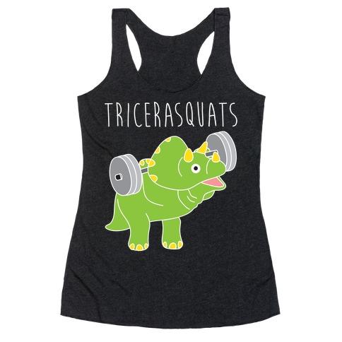 TriceraSQUATS Racerback Tank Top
