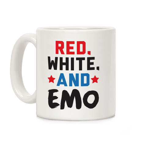 Red, White, And Emo Coffee Mug