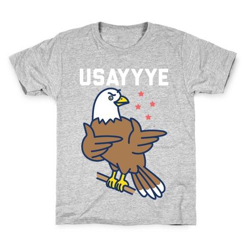 USAYYYE Bald Eagle Kids T-Shirt