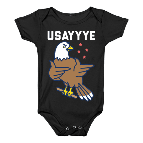 USAYYYE Bald Eagle Baby Onesy
