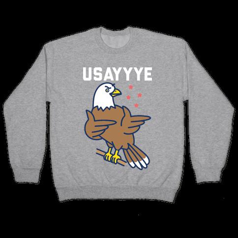 USAYYYE Bald Eagle Pullover
