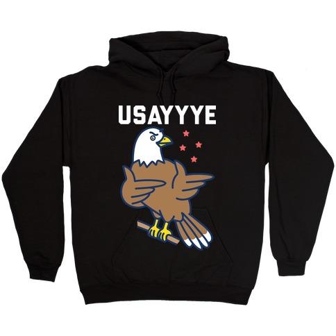 USAYYYE Bald Eagle Hooded Sweatshirt