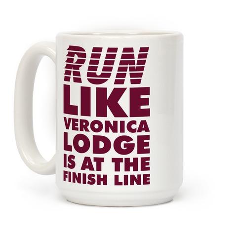 Run Like Veronica is at the Finish Line Coffee Mug