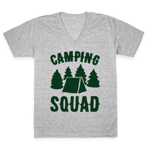 Camping Squad V-Neck Tee Shirt