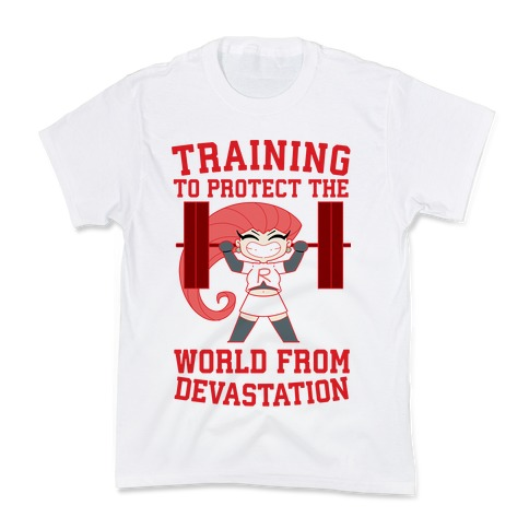 Training To Protect Our World From Devastation Kids T-Shirt
