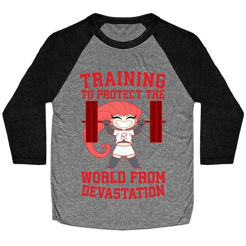 Training To Protect Our World From Devastation Baseball Tee