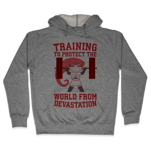 Training To Protect Our World From Devastation Hooded Sweatshirt