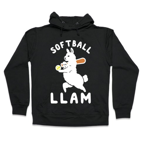 Softball Llam Hooded Sweatshirt